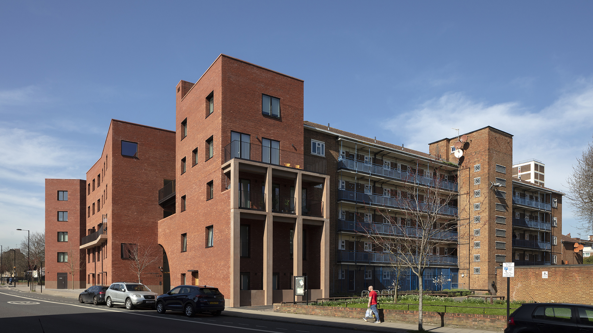 Taylor & Chatto Courts and Wilmott Court, Frampton Park Estate