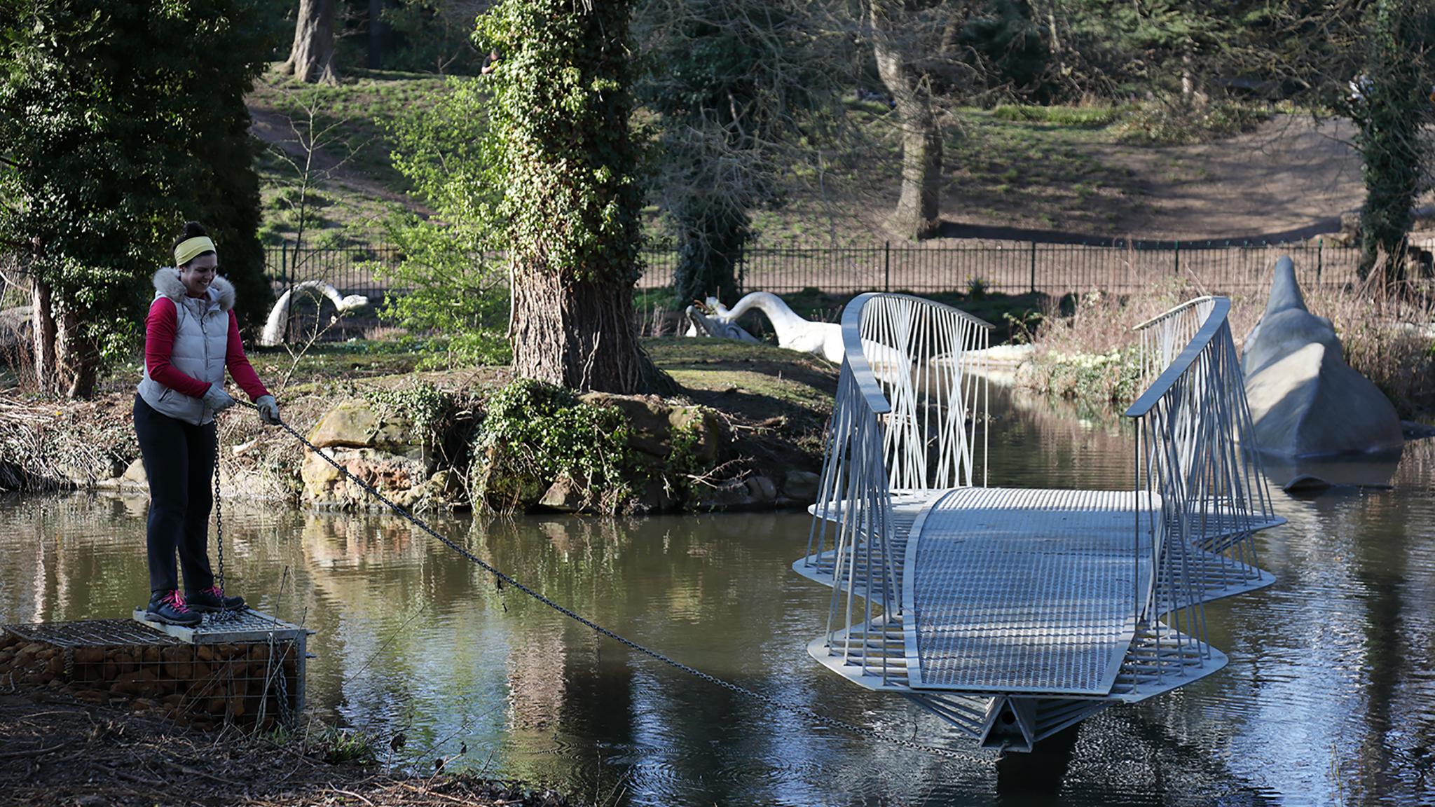 Dinosaur Swing Bridge