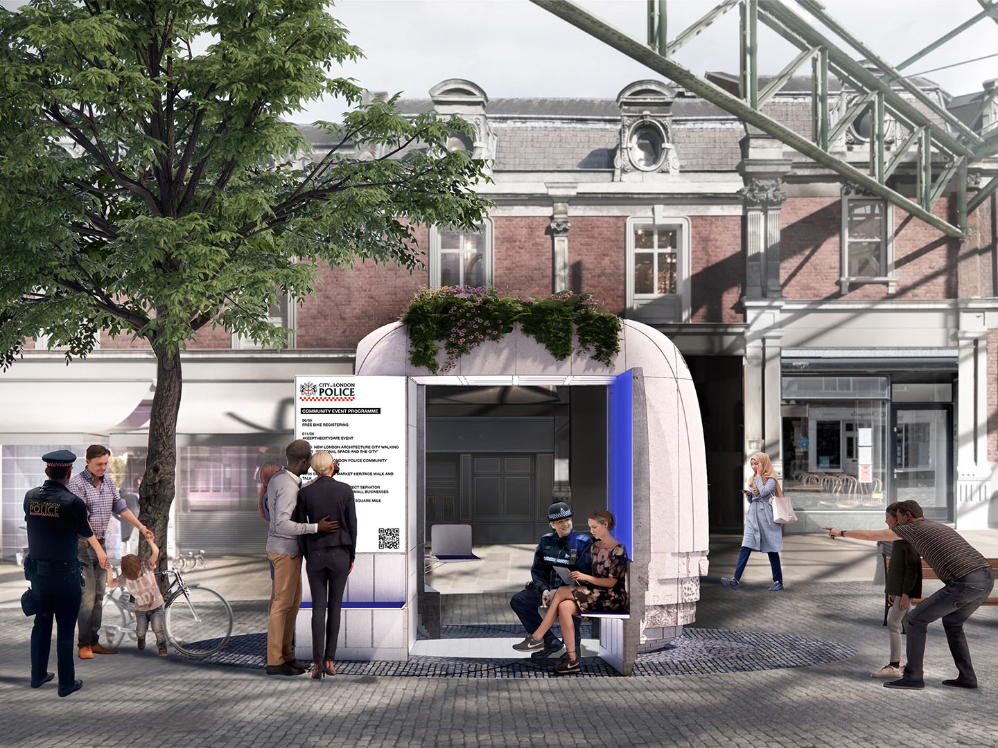 Winning design for 21st Century Police Box in the City of London unveiled